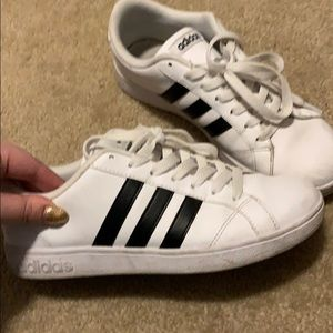 Adidas white and black shoes!